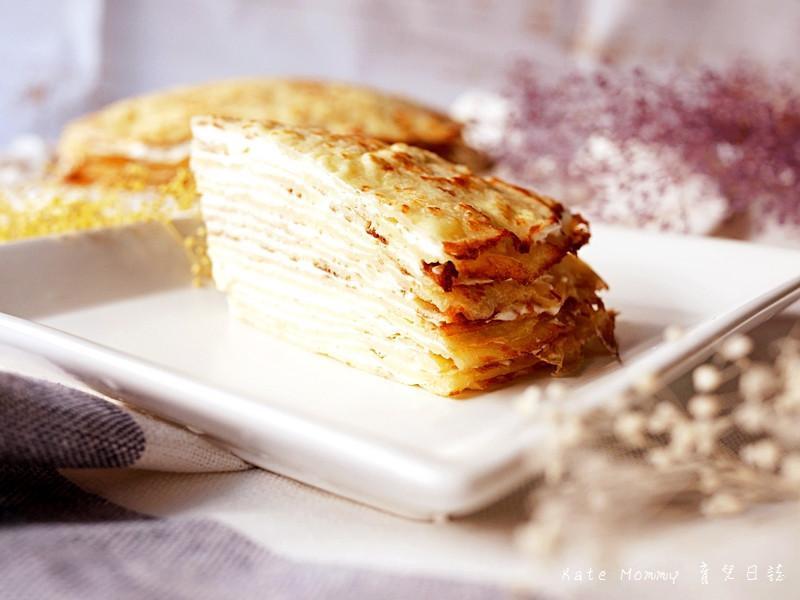 免烤箱就能完成不甜不膩的千層乳酪蛋糕