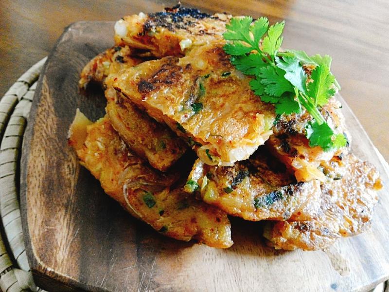 韓式泡菜煎餅一超簡單