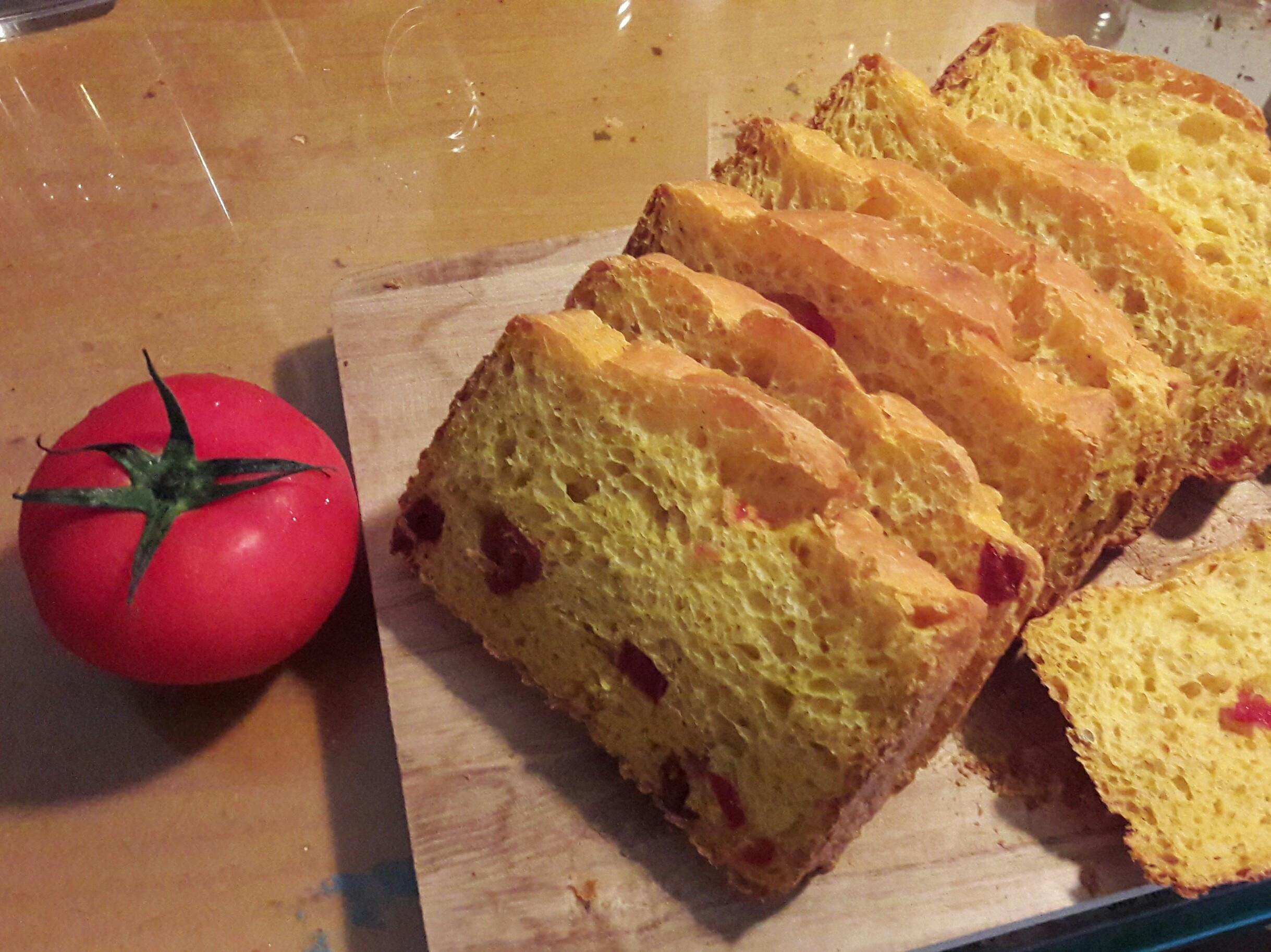 南瓜蕃茄麵包