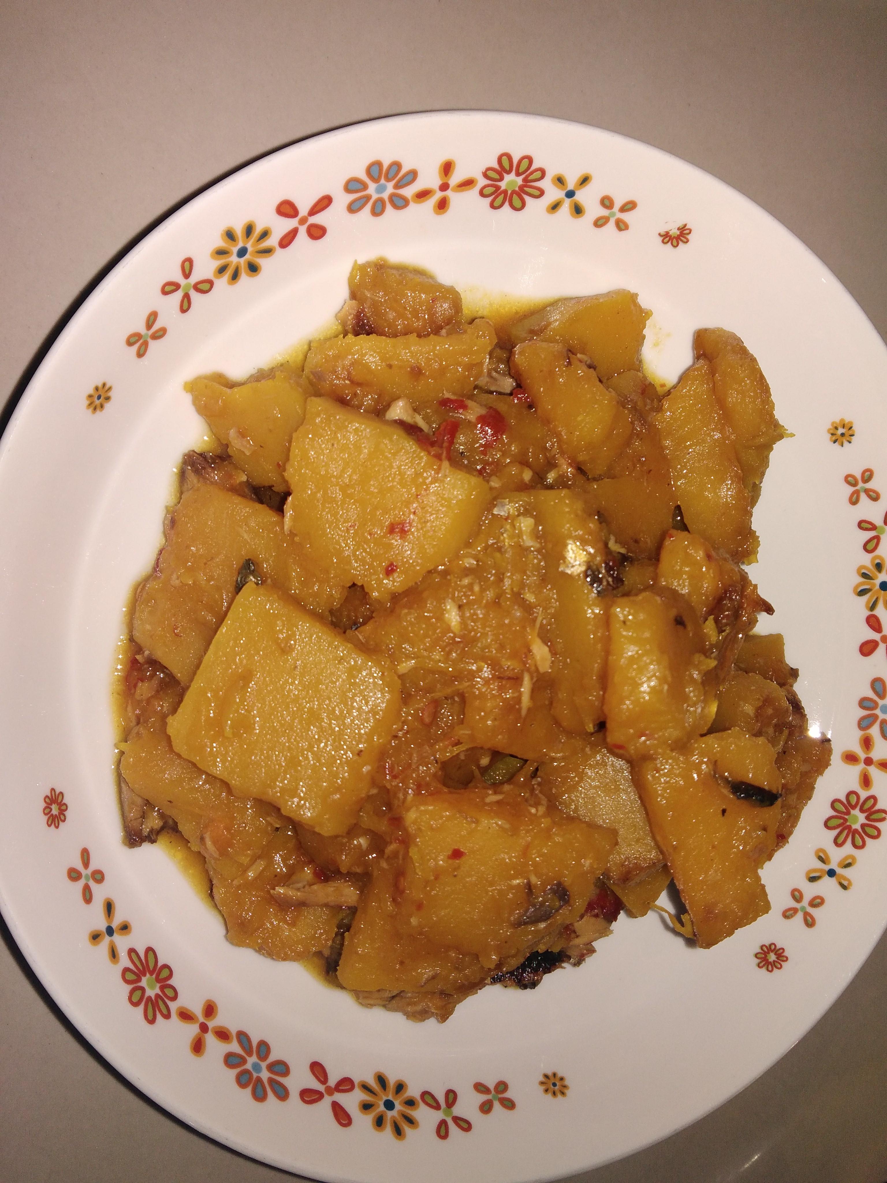 南瓜炒沙丁鱼