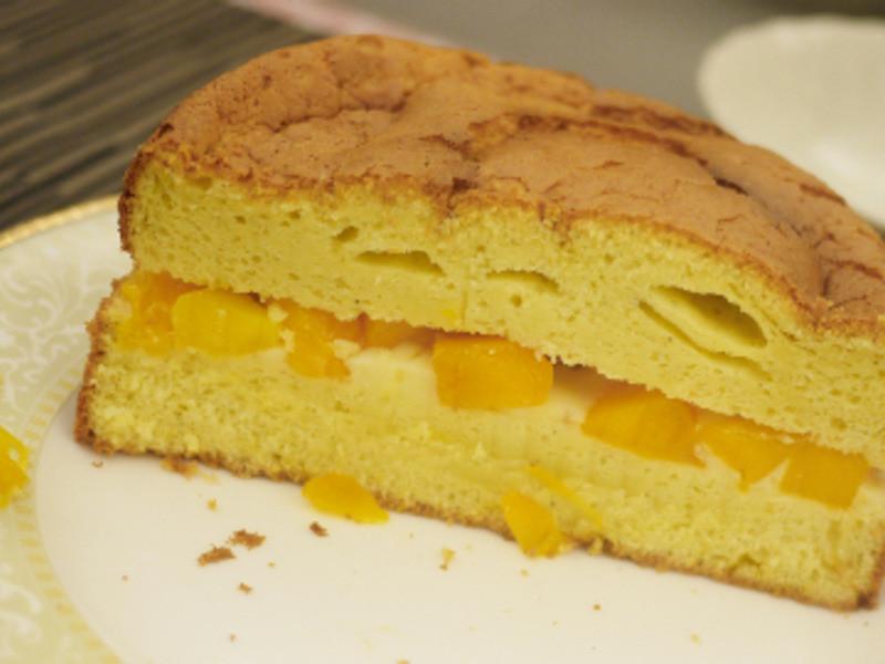 香草玫瑰卡士達醬芒果蛋糕