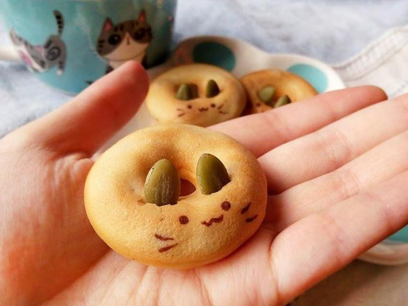 貓咪Q甜圈♥療癒系低糖Q軟甜甜圈