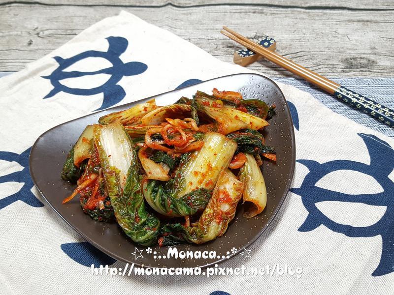 韓式小白菜生泡菜얼갈이겉절이