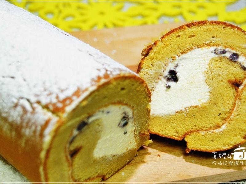 奶油紅豆捲心蛋糕