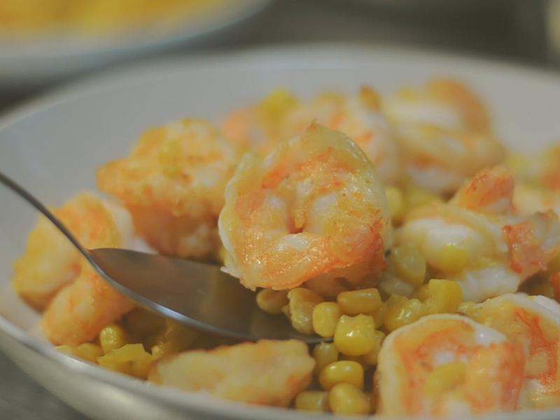 家常快炒∣鮮蝦炒玉米