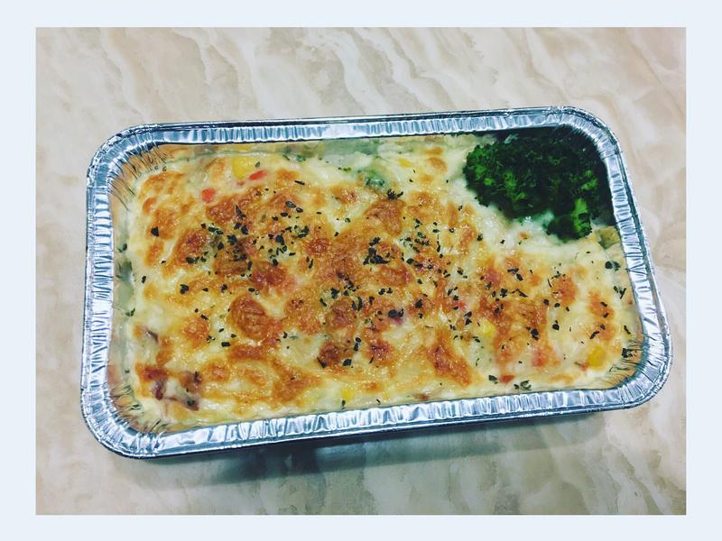 培根焗烤燉飯