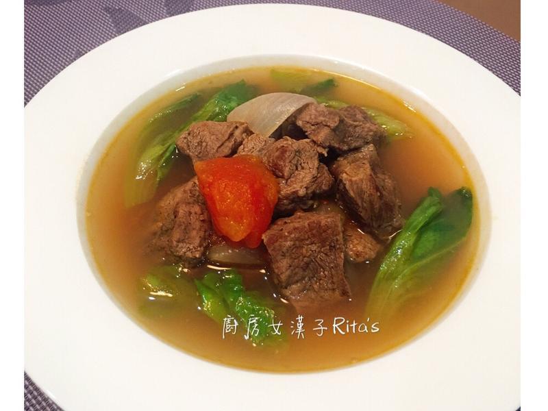 蕃茄牛肉清湯