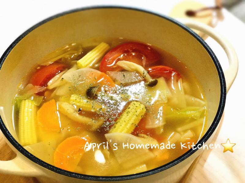 鮮菇蔬菜湯 清冰箱好料理