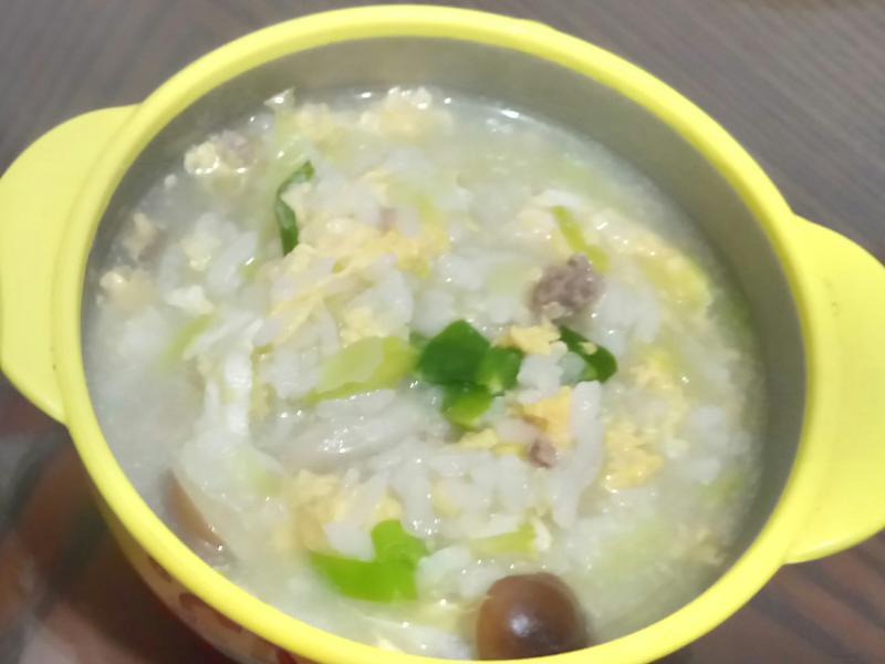 親子共食餐 蔬菜菇菇粥 (史雲生雞湯)
