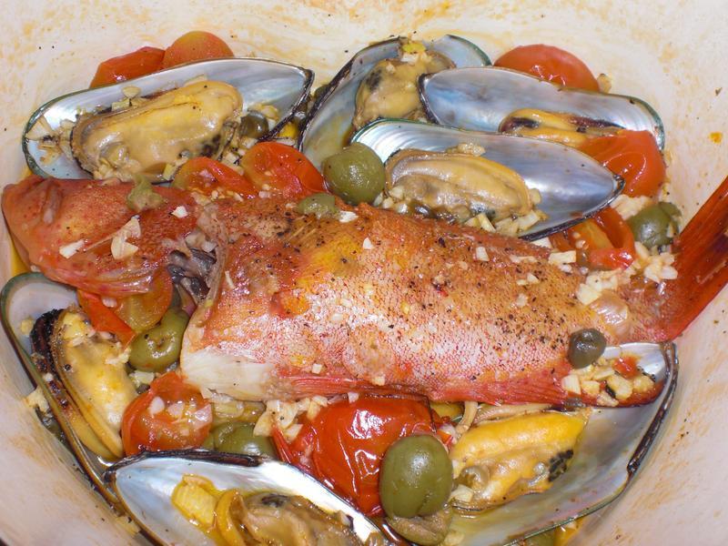 義式水煮魚(石狗公)