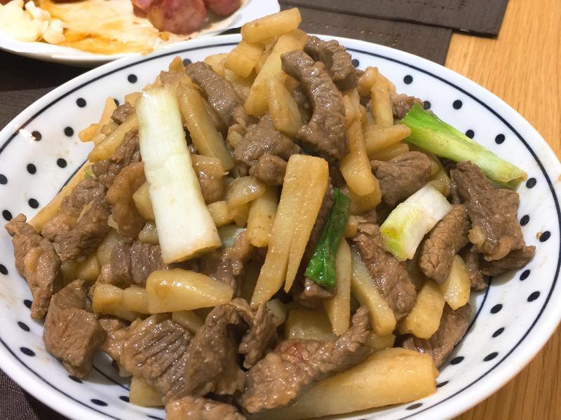 馬鈴薯炒牛肉絲