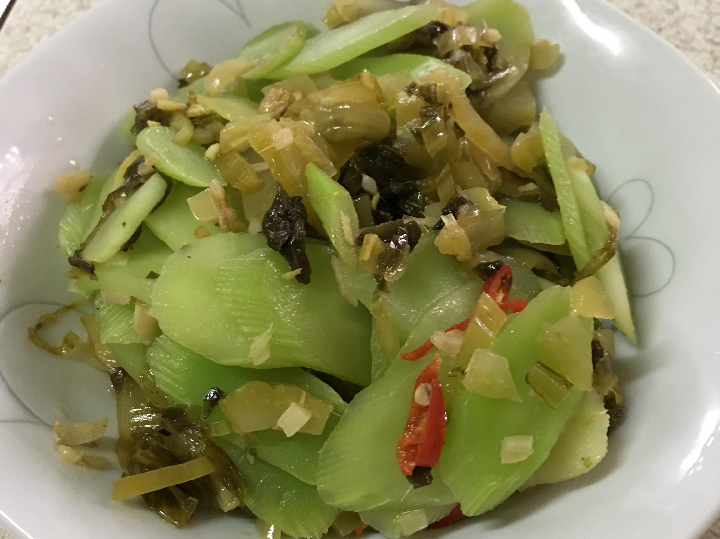 酸菜炒菜心~全素