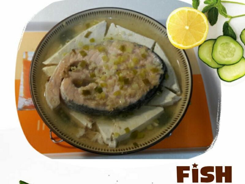 味噌鮭魚🐟佐豆腐🍜