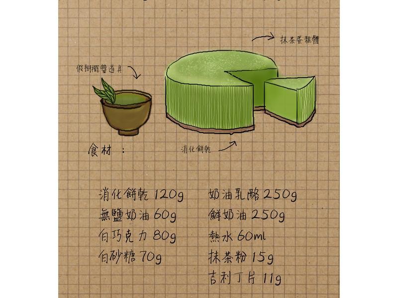 [免烤箱]抹茶生乳酪