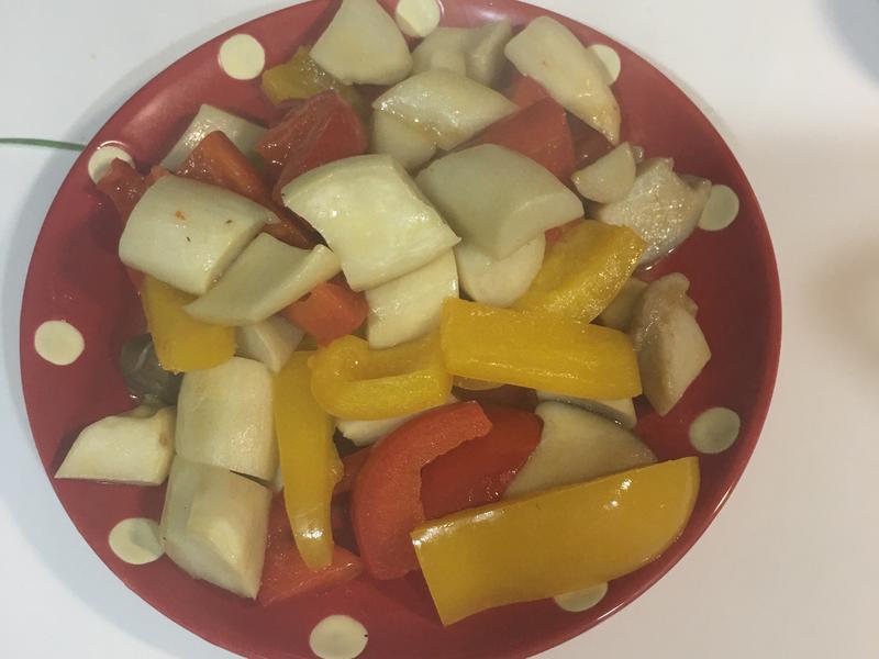 甜椒奶油杏鮑菇