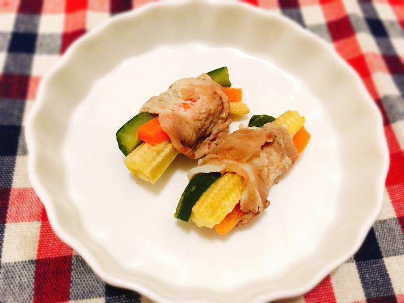 三色蔬菜肉捲