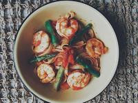 鮮蝦蕃茄意大利麵