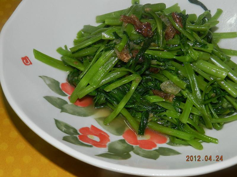 ㄚ曼達的廚房~油蔥空心菜