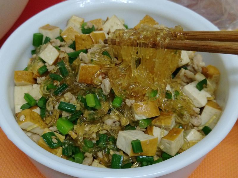 豆干韭菜炒冬粉
