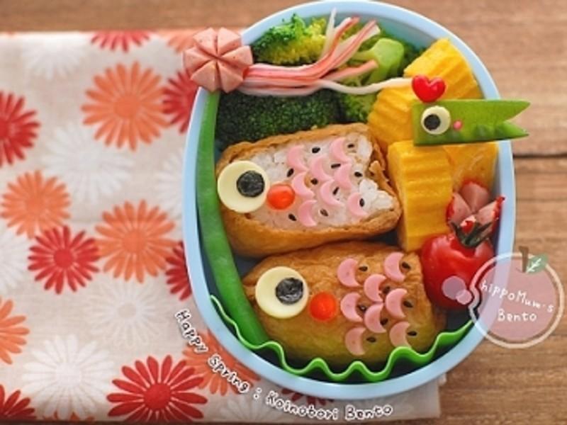 造型便當:鯉魚旗稲荷壽司