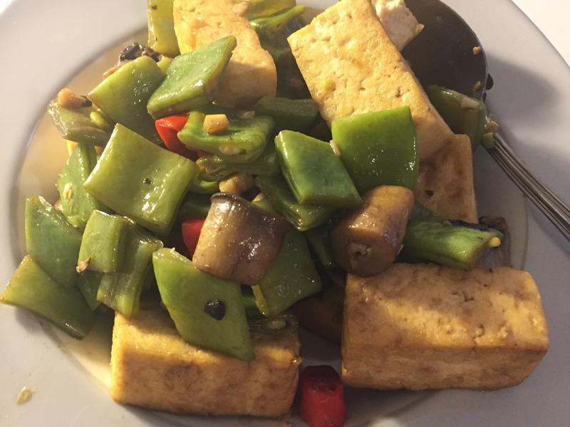 豆腐炒豆子