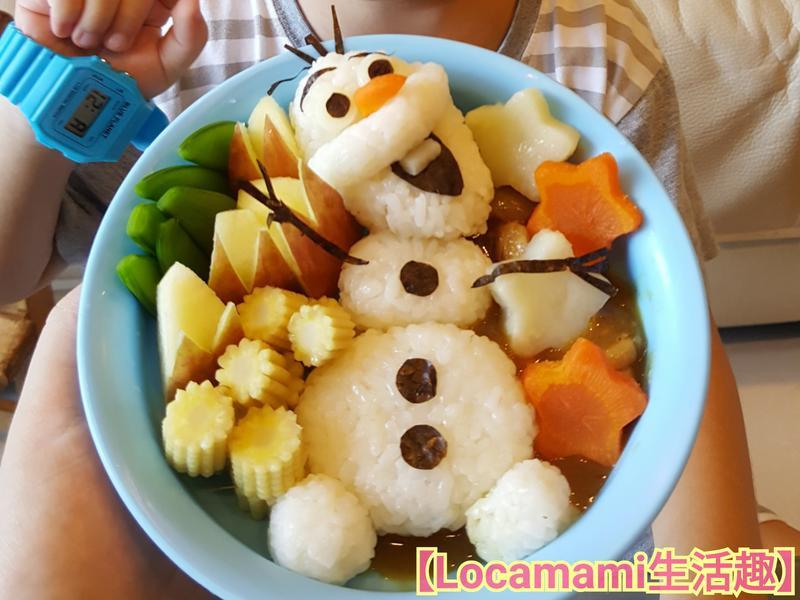 雪寶造型咖喱飯