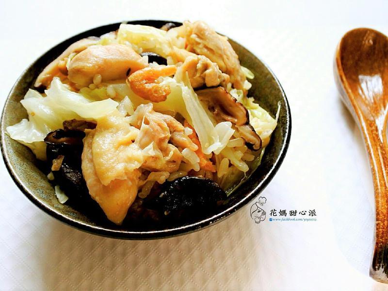 高麗菜香菇雞飯(電鍋版)