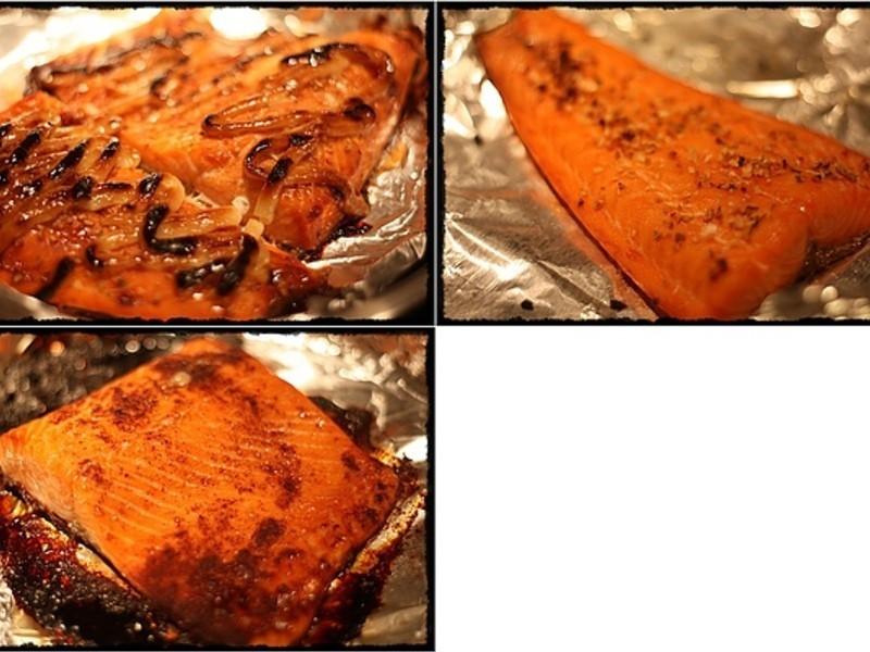 【亂煮】三式烤鮭魚 Three Style Grilled Salmon