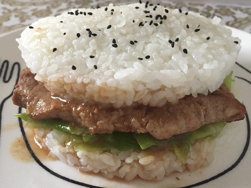 🍔姜汁燒肉米漢堡🍔