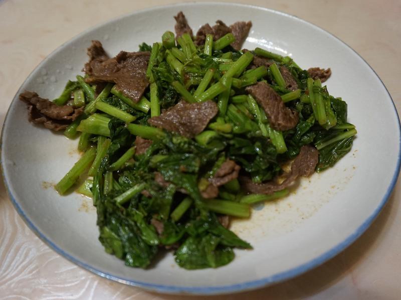 家常菜-芥藍沙茶炒牛肉