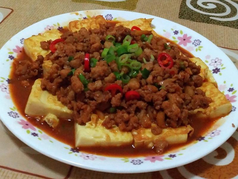 雞蛋豆腐燴絞肉