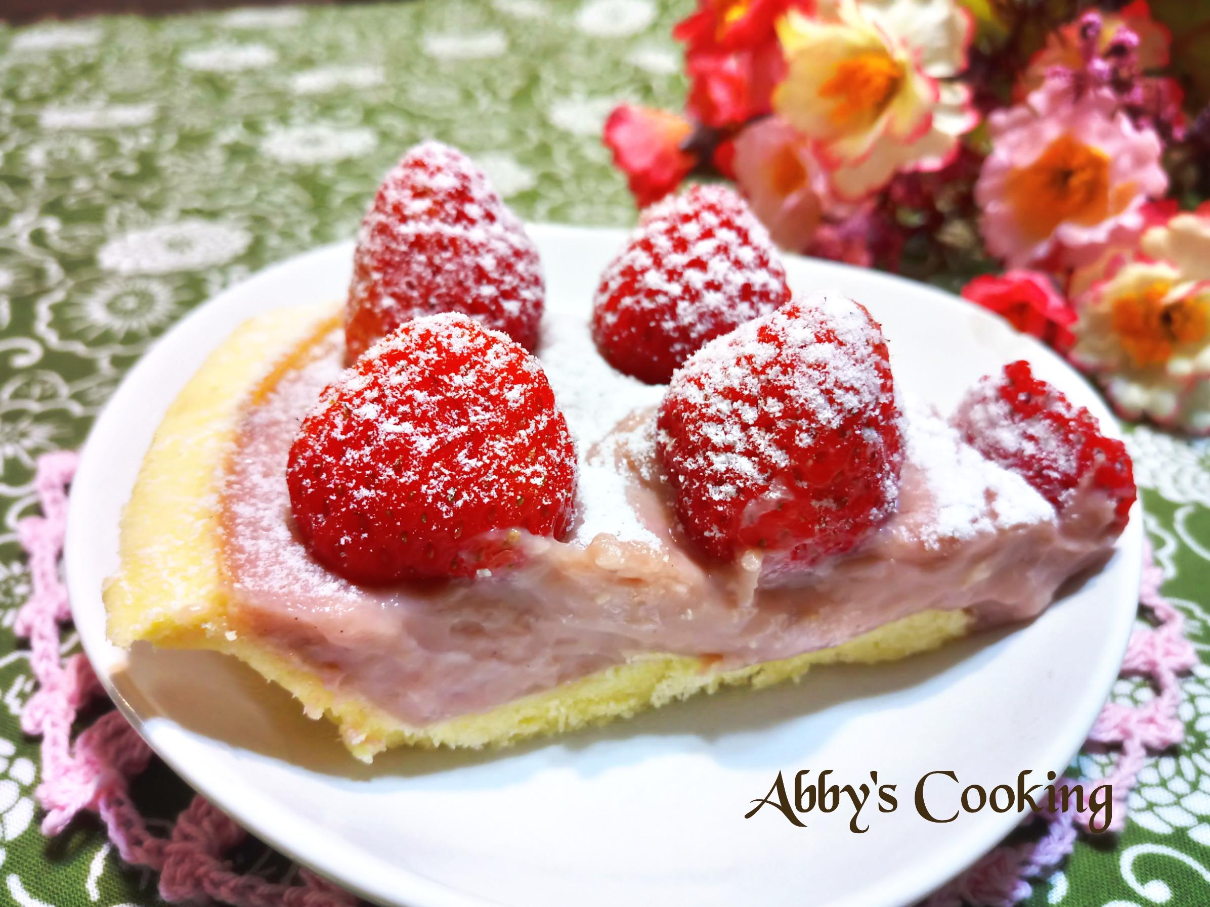草莓卡士達派