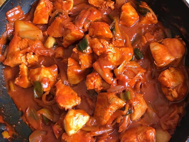 韓式泡菜炒雞