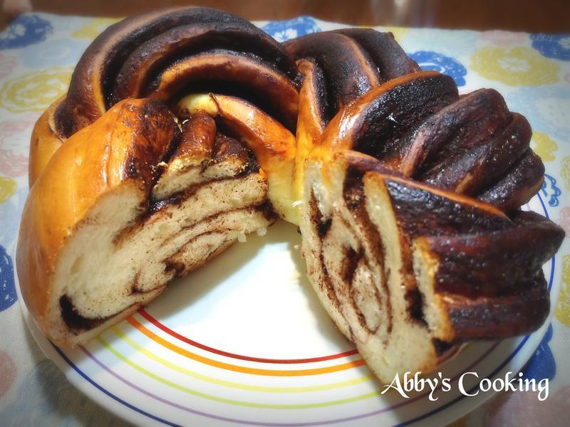 巧克力醬千層花麵包