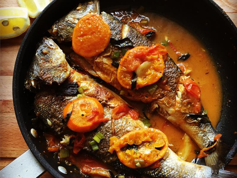 天然橙汁魚