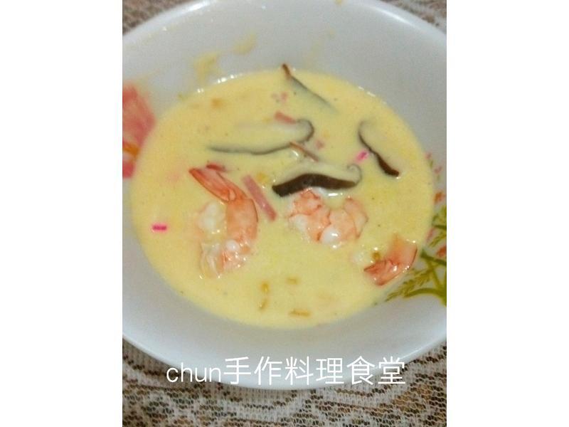 鮮蝦火腿玉米濃湯 (媽媽手作幸福料理)