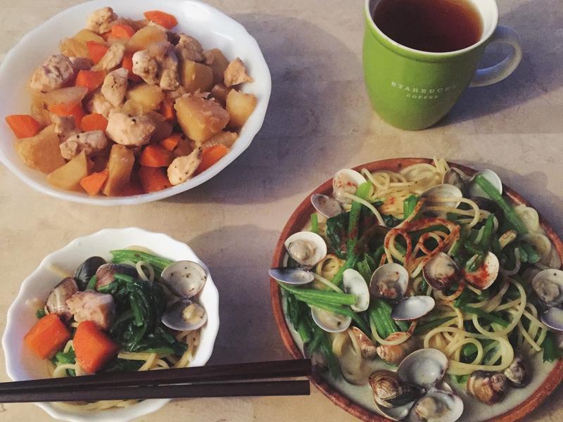 超簡易蛤蜊白醬義大利麵
