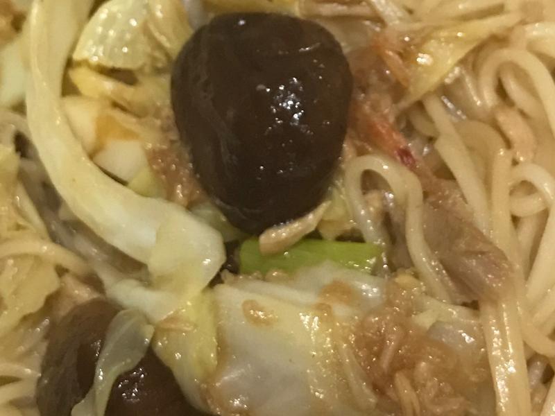 炒平安麵線