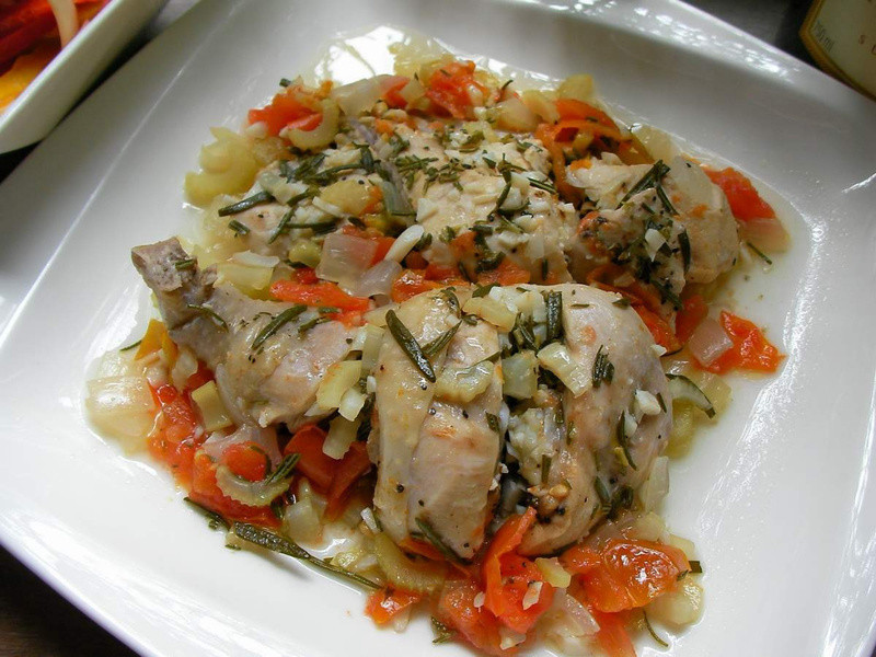 迷迭香蒸煮香草雞