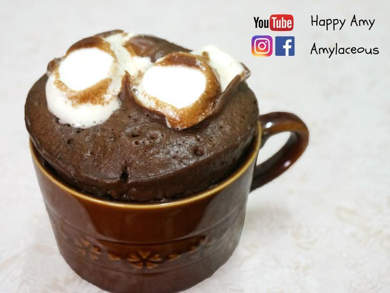 【5分鐘】棉花糖朱古力微波蛋糕