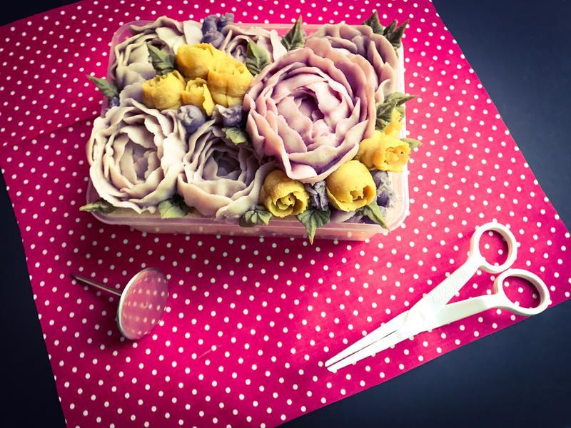 芋頭蛋糕_擠花