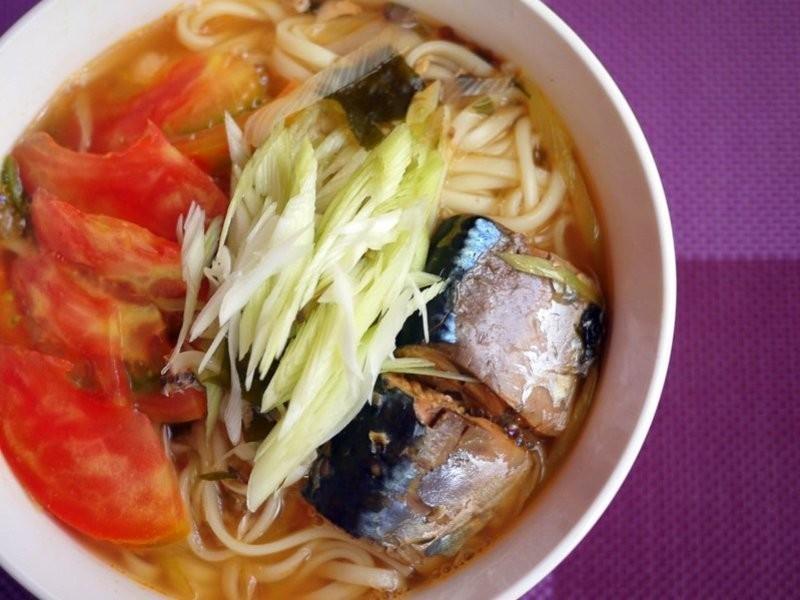 ♫蕃茄鯖魚湯麵(サバの魚のタンメン)