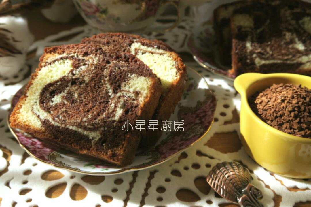 大理石紋可可咖啡磅蛋糕
