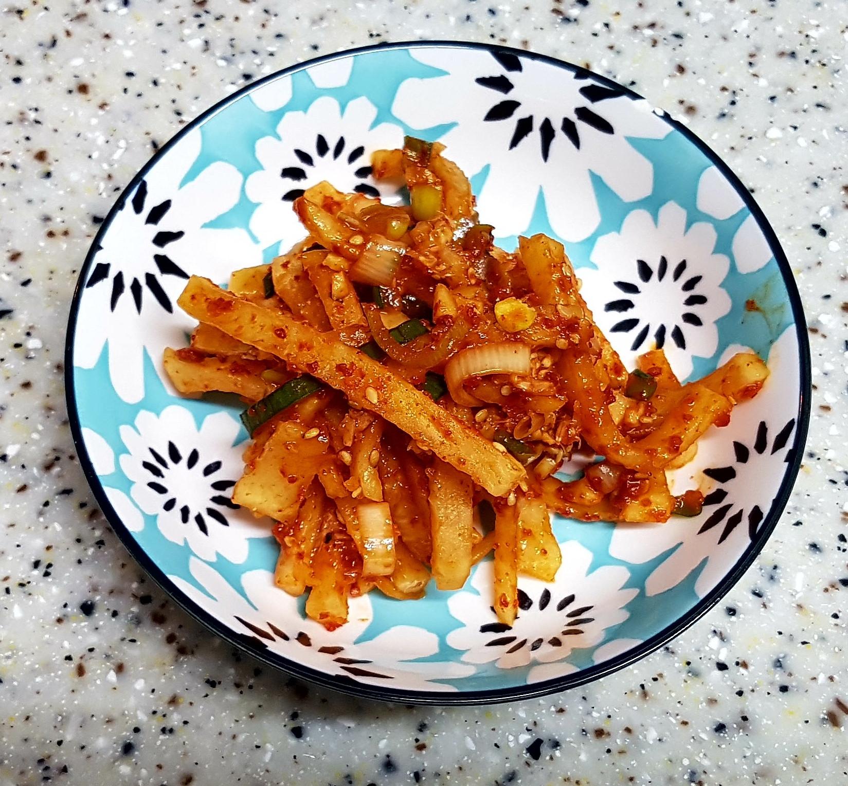 (韓式)醃辣蘿蔔絲 무생채