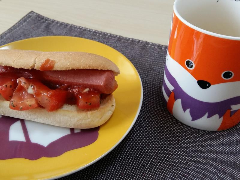熱狗好朋友❤番茄羅勒醬簡單輕鬆做