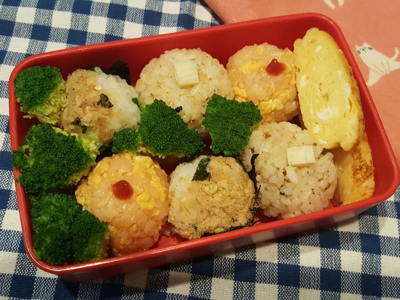 三色小飯糰野餐盒