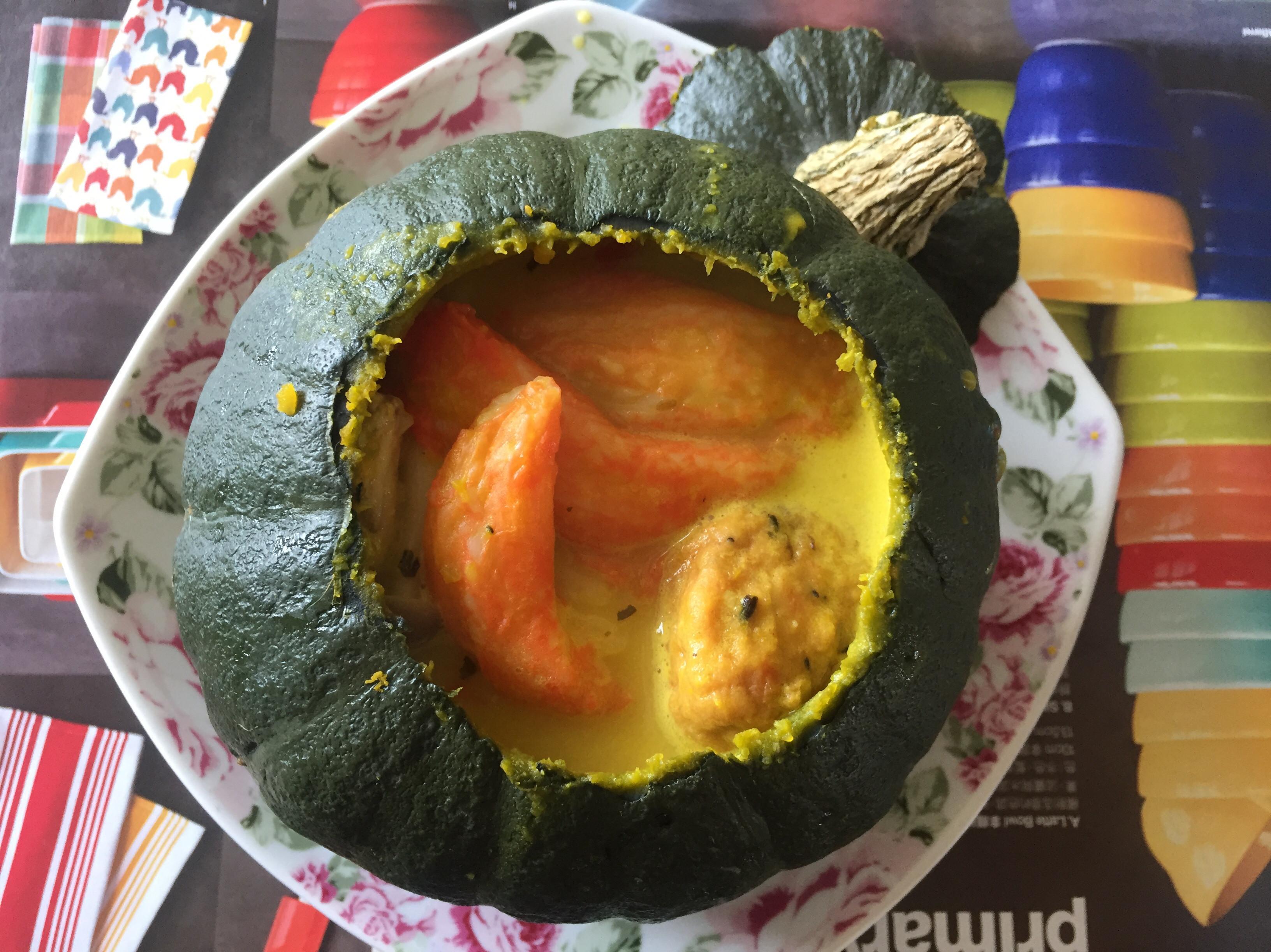 六種材料做出美味又健康的南瓜濃湯~