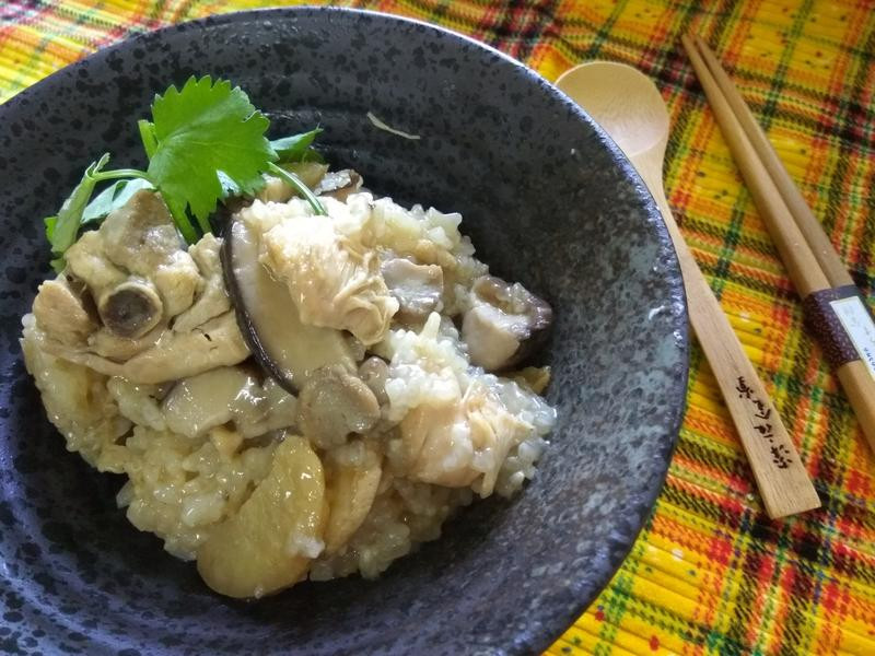 懶人料理─麻油香菇雞米糕