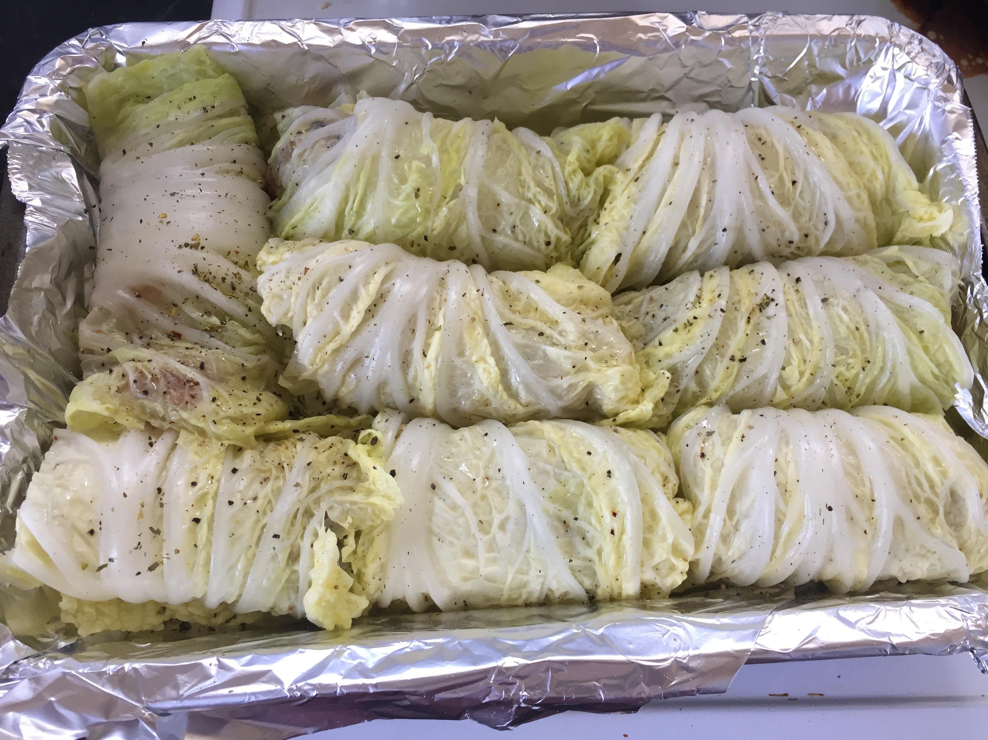 大白菜雞肉鮭魚捲(烤爐)