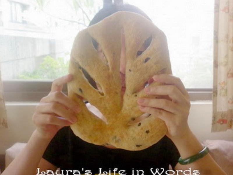 免揉法式迷迭香面具(葉子)麵包
